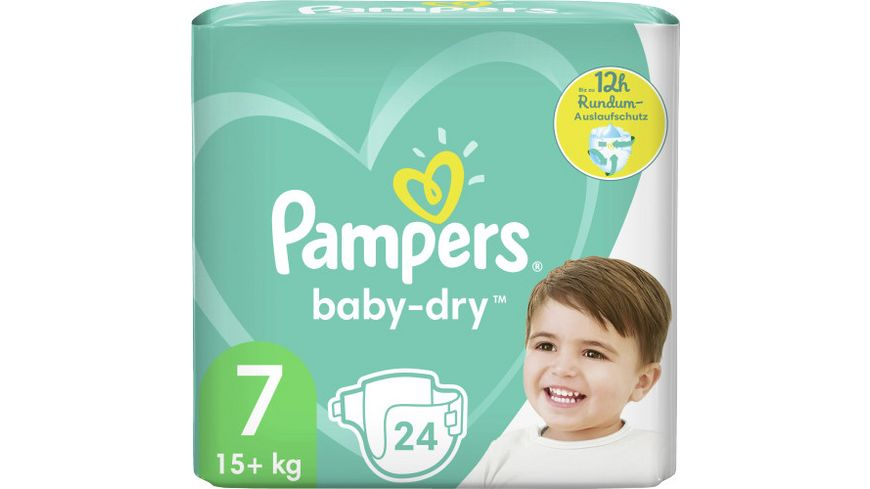 Pampers BABY DRY Windeln Gr.7 Extra Large 15+kg Einzelpack 24ST