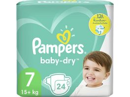Pampers BABY DRY Windeln Gr 7 Extra Large 15 kg Einzelpack 24ST