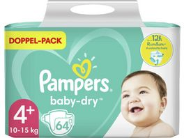 Pampers BABY DRY Windeln Gr 4 Maxi Plus 10 15kg Doppelpack 64ST