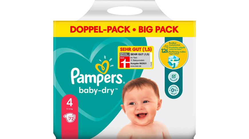 Pampers Baby Dry Groesse 4 9 14kg Doppelpack
