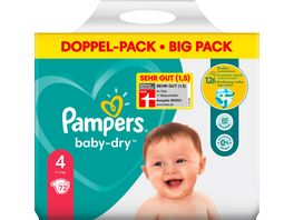 Pampers BABY DRY Windeln Gr 4 Maxi 9 14kg DP 72ST