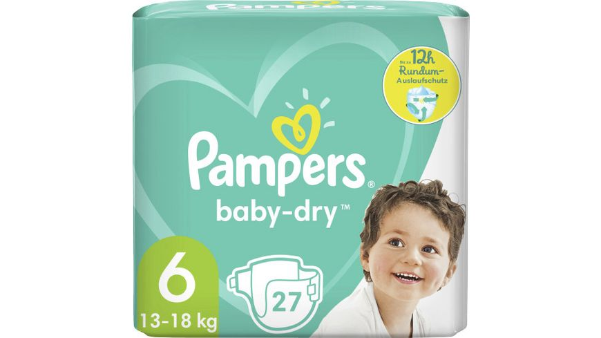 Pampers BABY DRY Windeln Gr.6 Extra Large 13-18kg Einzelpack 27ST