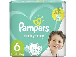 Pampers BABY DRY Windeln Gr 6 Extra Large 13 18kg Einzelpack 27ST