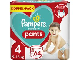 Pampers BABY DRY PANTS Windeln Gr 4 Maxi 9 15kg Doppelpack 64ST
