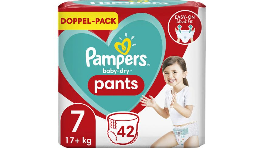 Pampers BABY DRY PANTS Windeln Gr.7 Extra Large 17+kg Doppelpack 42ST