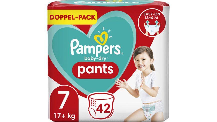 Pampers Windeln Baby Dry Pants Größe 7, 17+kg Doppelpack