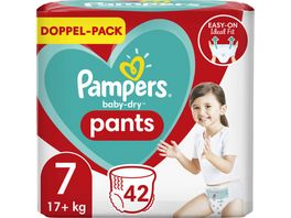 Pampers BABY DRY PANTS Windeln Gr 7 Extra Large 17 kg Doppelpack 42ST