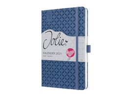 sigel Wochenkalender Jolie 2021 Indigo Blue 135x203x16 mm J1101