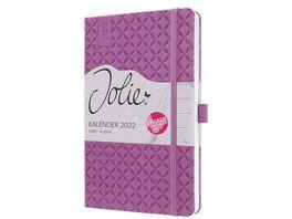 sigel Wochenkalender Jolie 2021 Flair Rose Pink 135x203x16 mm J1111