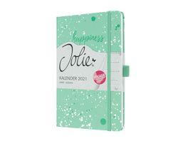 sigel Wochenkalender Jolie 2021 Green Happiness 95x150x16 mm J1302