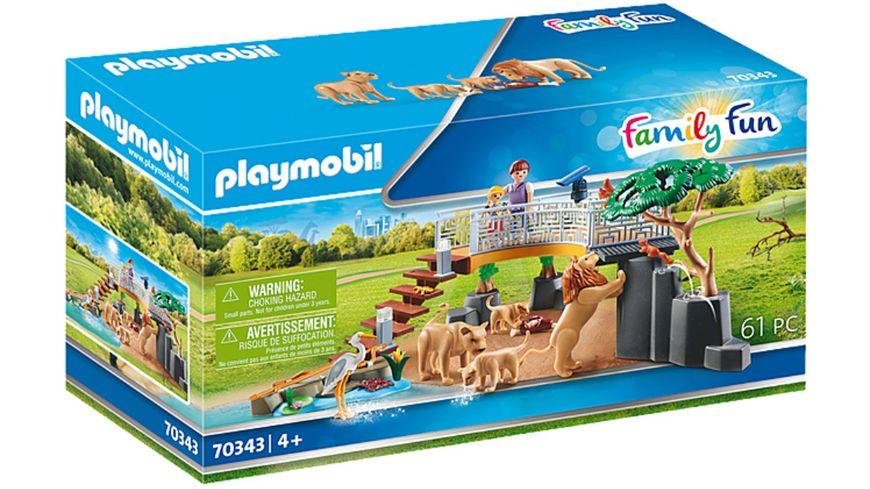 PLAYMOBIL 70343 - Family Fun - Löwen im Freigehege