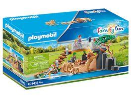 PLAYMOBIL 70343 Family Fun Loewen im Freigehege