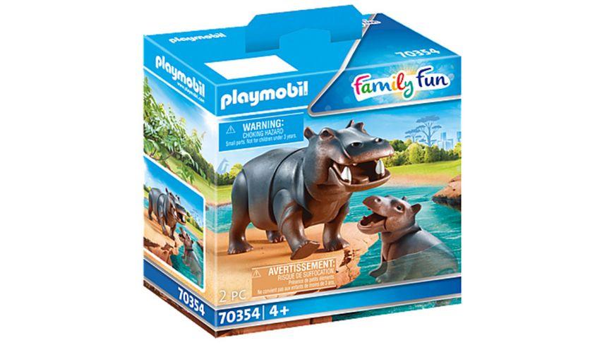 PLAYMOBIL 70354 Family Fun Flusspferd mit Baby