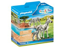 PLAYMOBIL 70356 Family Fun 2 Zebras mit Baby