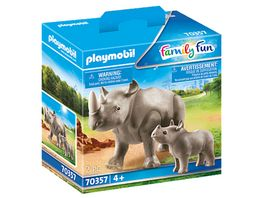 PLAYMOBIL 70357 Family Fun Nashorn mit Baby