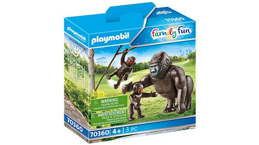 PLAYMOBIL 70360 - Family Fun - Gorilla mit Babys
