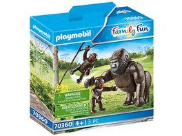 PLAYMOBIL 70360 Family Fun Gorilla mit Babys