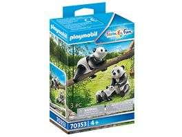PLAYMOBIL 70353 Family Fun 2 Pandas mit Baby