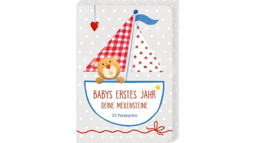Die Spiegelburg - Fotokarten-Box - Babys erstes Jahr - Meilensteine BabyGlück