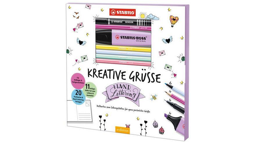 STABILO Hand Lettering Set Kreative Gruesse