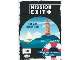 Mission Exit SOS auf hoher See Escape Game und Geschichte ab 9 Jahren fuer 1 oder mehrere Spieler