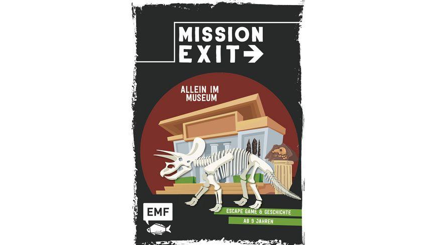 Mission Exit Allein im Museum Escape Game und Geschichte ab 9 Jahren fuer 1 oder mehrere Spieler