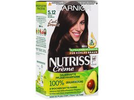GARNIER Nutrisse Creme dauerhafte Pflege Haarfarbe 5 12 Kuehles Hellbraun