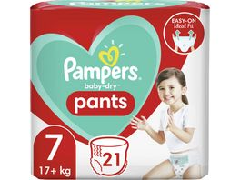 Pampers BABY DRY PANTS Windeln Gr 7 Extra Large 17 kg Einzelpack 21ST