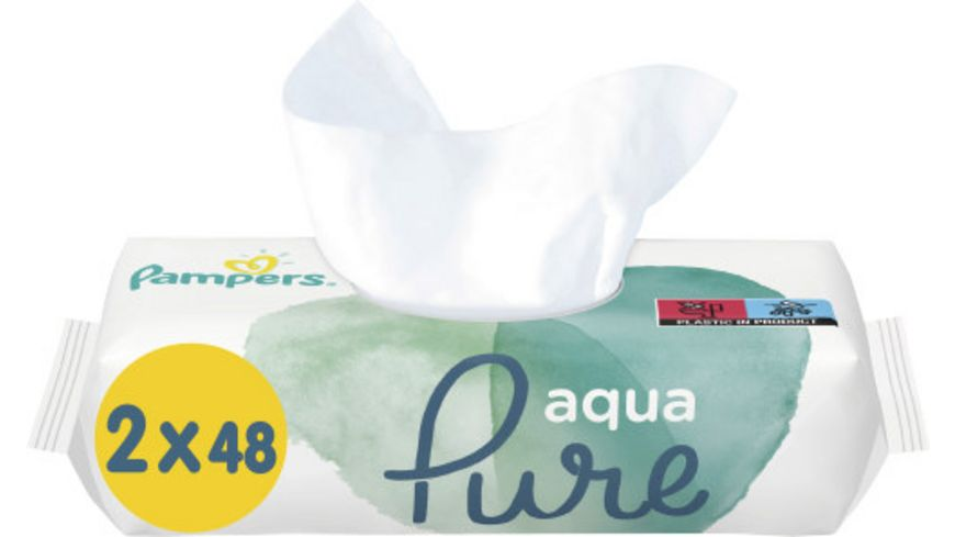 Pampers Feuchttuecher Aqua (2x48ST) = 96ST