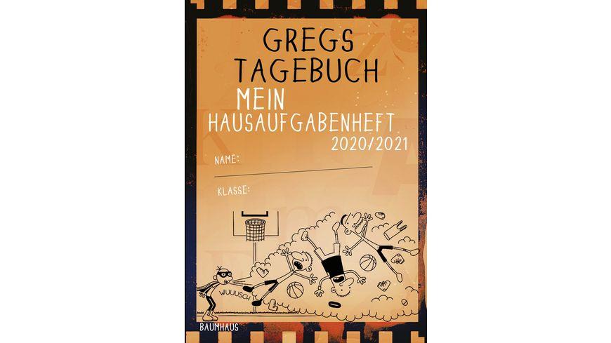Gregs Tagebuch Mein Hausaufgabenheft 2020 2021 orange