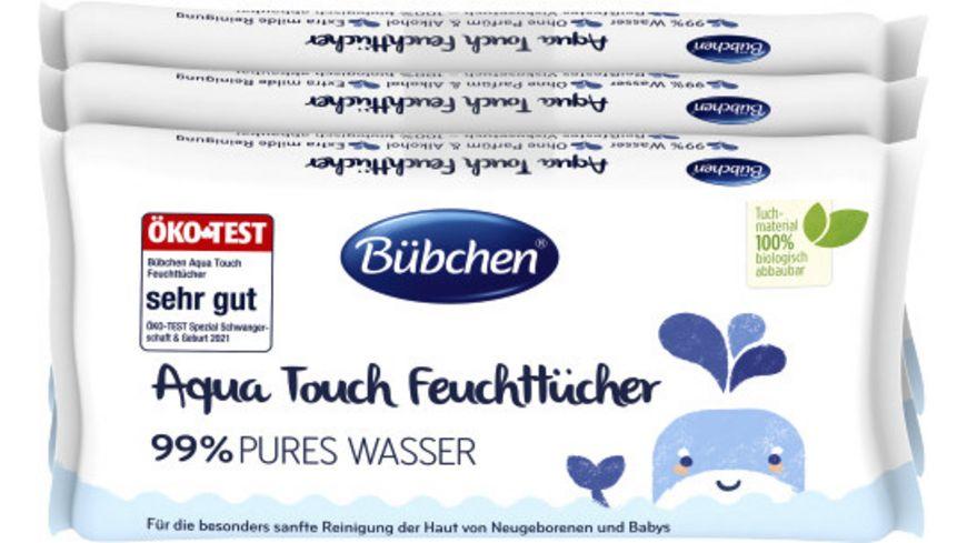 Buebchen Aqua Touch Feuchttuecher 3x48 Stk