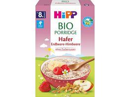 HiPP Bio Porridge 250g Hafer Erdbeere Himbeere ohne Zuckerzusatz ab 8 Monat