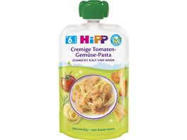 HiPP Menues 130g im Quetschbeutel Cremige Tomaten Gemuese Pasta schmeckt kalt und warm ab 6 Monat