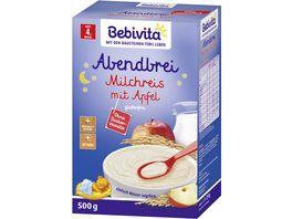 Bebivita Beikost Abendbrei Milchreis mit Apfel