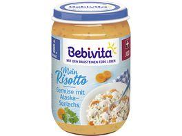 Bebivita Menues ab dem 8 Monat Risotto mit Gemuese mit Alaska Seelachs