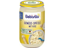 Bebivita Bio Menues Gemuese Spaetzle mit Kaese 250 g