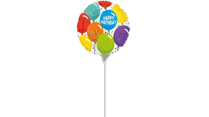 Amscan Birthday Celebration Folienballon A15 airfilled 9 22 6 cm