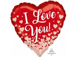 Amscan Standard I Love You Folienballon S40 43cm