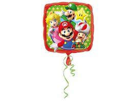 Amscan Standard Mario Bros Folienballon Quadrat S60 43 cm