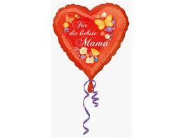 Amscan Standard Fuer die liebste Mama Folienballon S40 43 cm