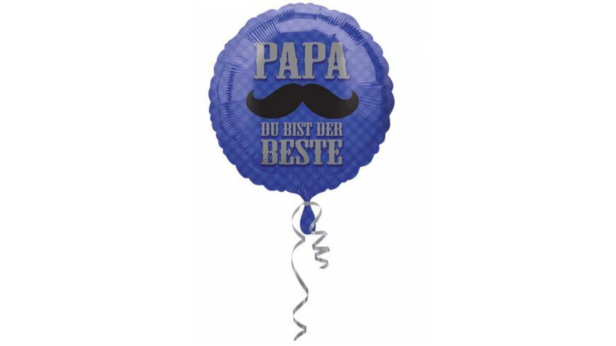 Amscan Standard Papa du bist der Beste Folienballon S40 43 cm