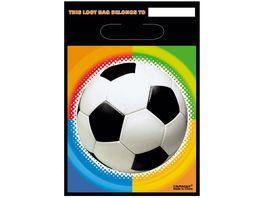 Amscan 8 Party Tueten Championship Soccer Kunststoff 23 9 x 16 5 cm