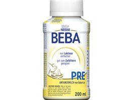 Nestle BEBA Pre trinkfertige Anfangsmilch