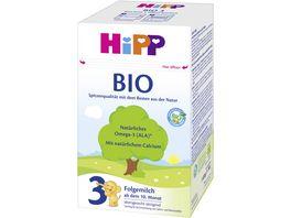 HiPP Milchnahrung Bio 600g 2 x 300 g HiPP 3 Bio ab dem 10 Monat