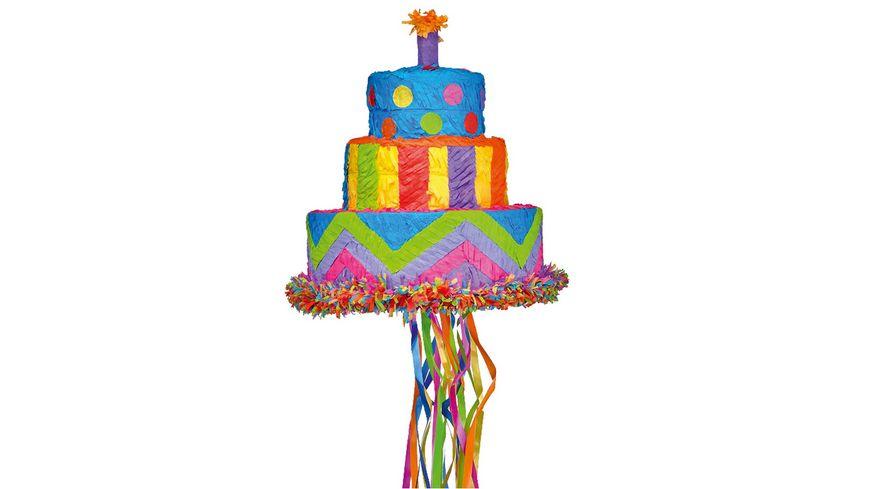 Amscan PINATA PULL Birthday Cake