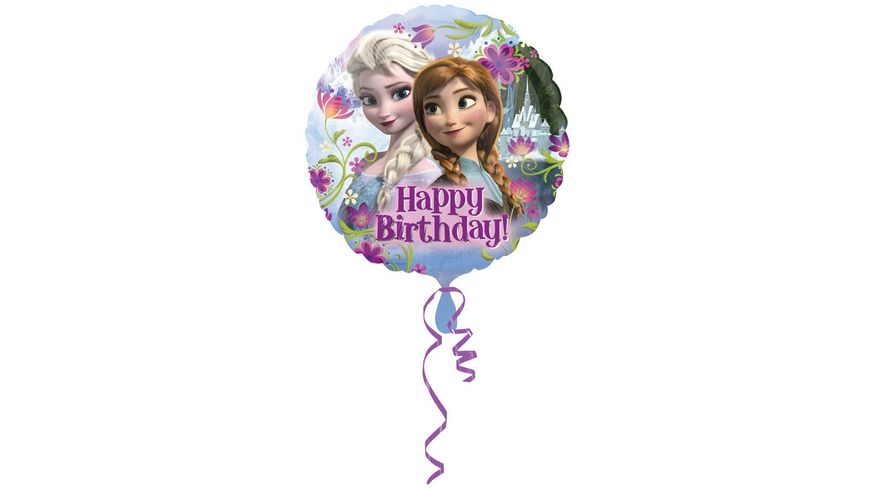Amscan Folienballon FROZEN Happy Birthday S60 43cm