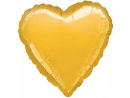 Amscan Folienballon HERZ gold metallic S15 43cm