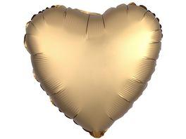 Amscan Folienballon HERZ gold Satin Luxe S15 43cm