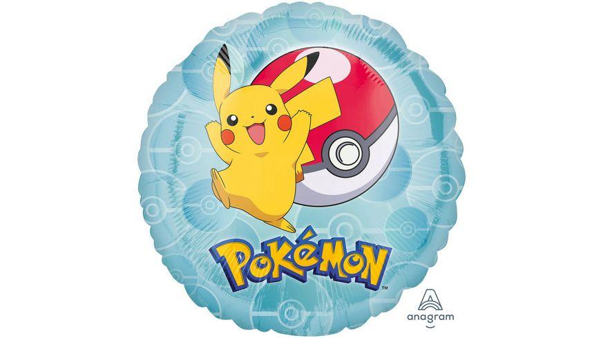 Amscan Standard Pokemon Folienballon rund S60