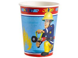 Amscan FIREMAN SAM Party Becher 8 Stueck